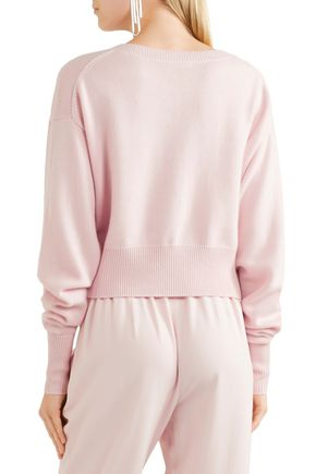 CHLOÉ Cashmere and cotton-blend sweater