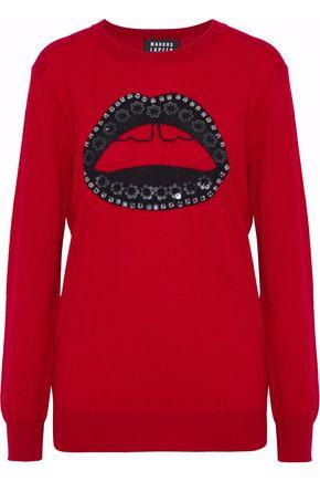 MARKUS LUPFER Natalie embellished intarsia wool sweater
