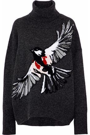 MARKUS LUPFER Intarsia wool turtleneck sweater