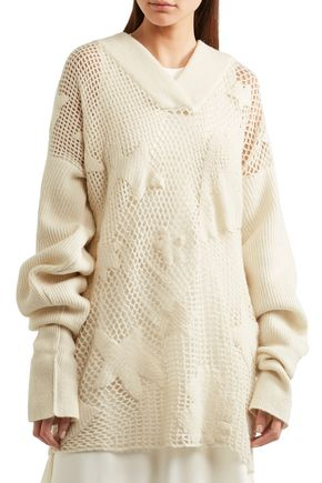 MAISON MARGIELA Open-knit wool-blend sweater