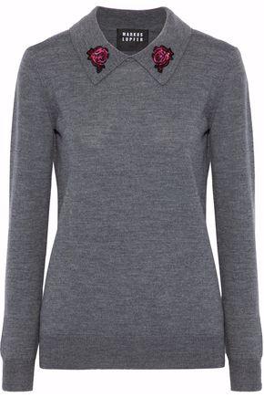 MARKUS LUPFER Rosie sequin-embellished merino wool sweater
