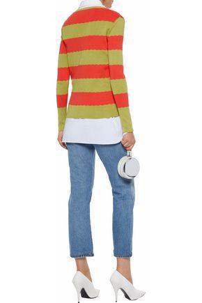 REDValentino Striped cotton sweater
