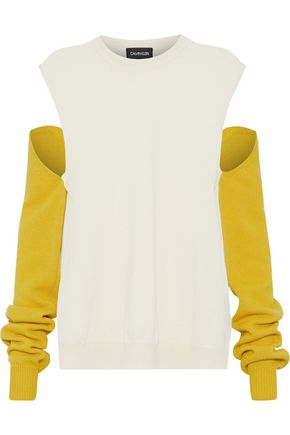 CALVIN KLEIN 205W39NYC Convertible two-tone wool sweater