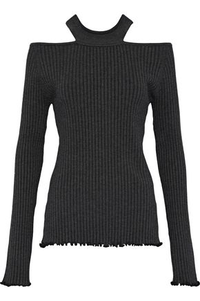 JASON WU Cutout ribbed-knit top