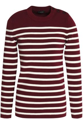 JOSEPH Striped merino wool-blend sweater