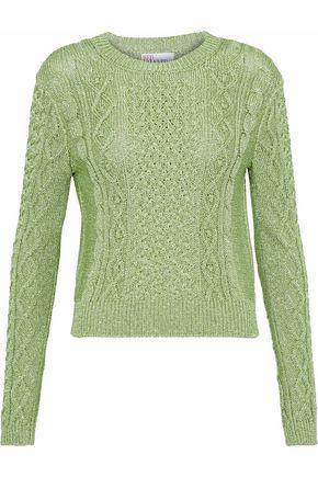 REDValentino Metallic cable-knit sweater