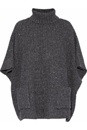 REBECCA MINKOFF Ribbed-knit poncho