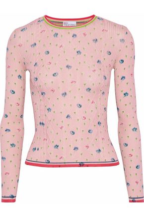 REDValentino Printed cotton sweater