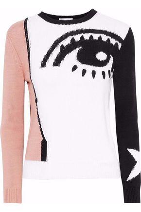 REDValentino Intarsia cotton sweater