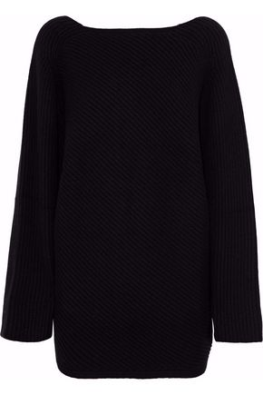 DEREK LAM Asymmetric ribbed cashmere sweater