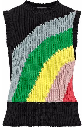 REDValentino Ribbed intarsia cotton vest