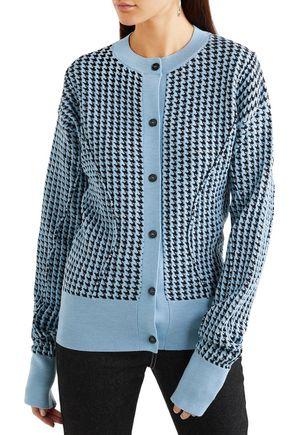 MARNI Houndstooth wool-blend cardigan