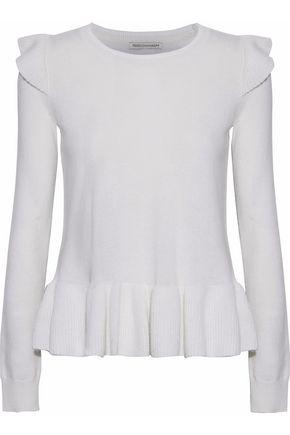REBECCA MINKOFF Regina ruffle-trimmed wool and cashmere-blend sweater