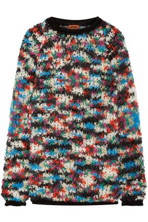 MISSONI Oversized bouclé-knit wool-blend sweater