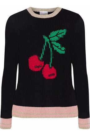 REDValentino Intarsia cotton-blend sweater