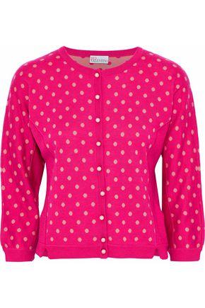 REDValentino Jacquard wool, silk and cashmere-blend cardigan