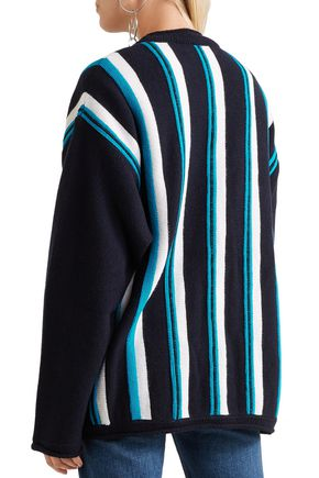 MARNI Striped wool cardigan