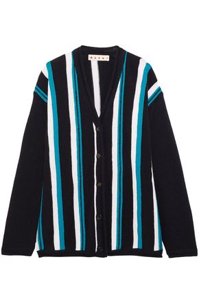 MARNI Striped wool cardigan