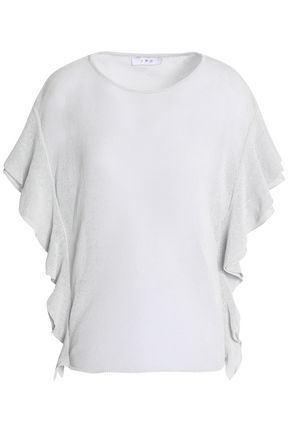 IRO Ruffled cotton-blend top
