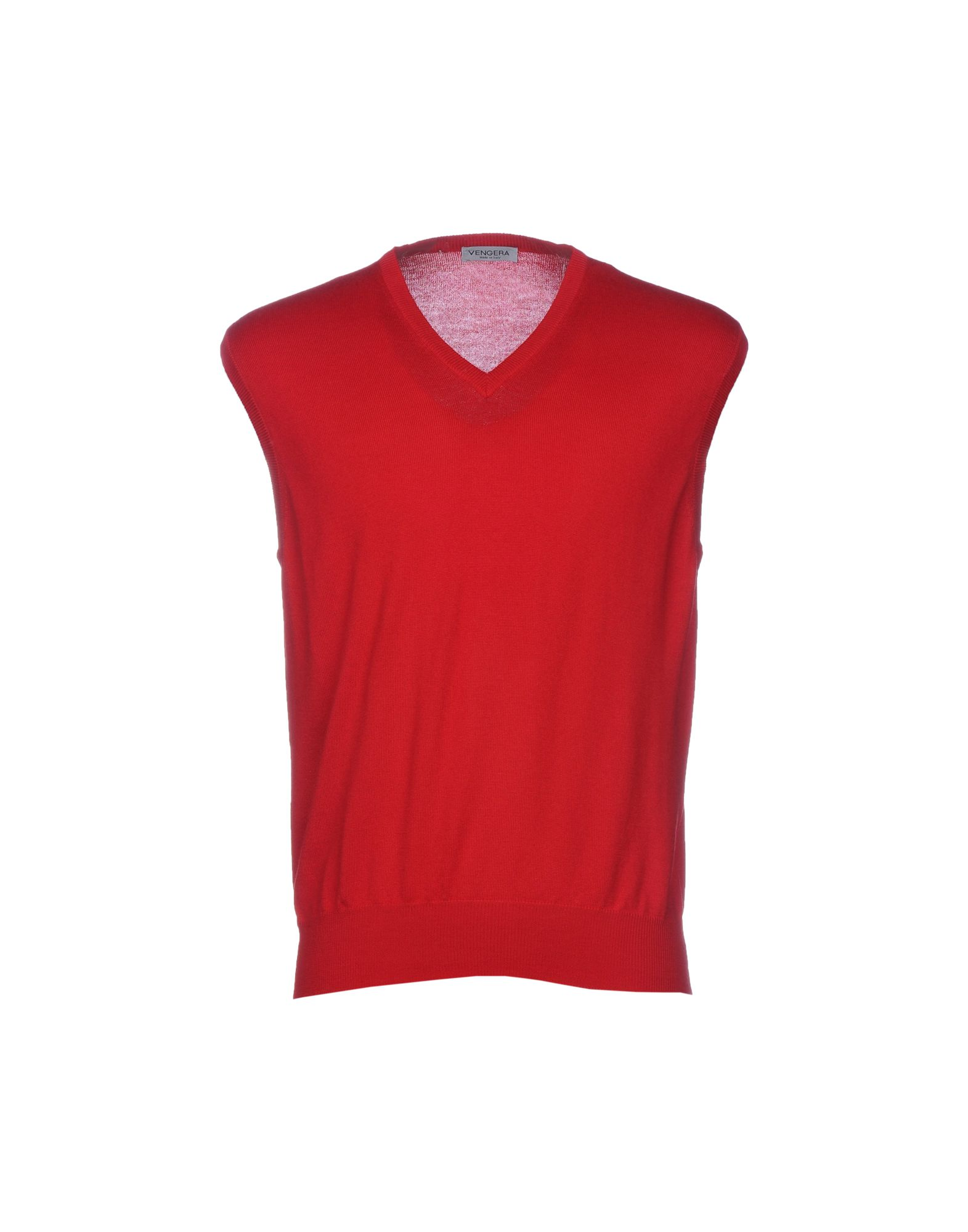 VENGERA Sleeveless Sweater in Brick Red