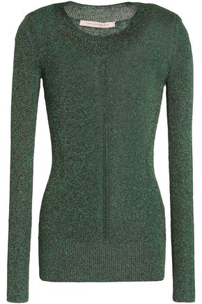 CHRISTOPHER KANE Metallic stretch-knit top