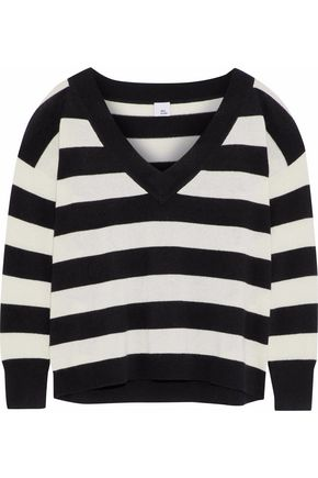 IRIS & INK Jill striped cashmere sweater