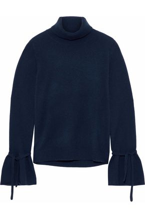 IRIS & INK Kerri ribbed cashmere turtleneck sweater
