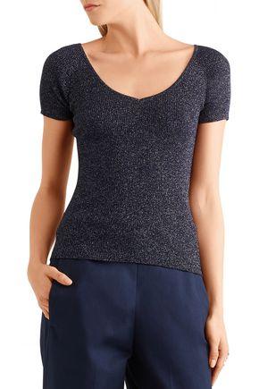 MAX MARA Metallic ribbed wool-blend sweater