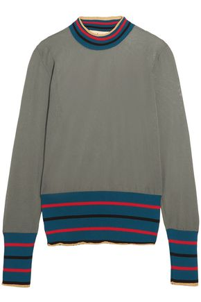 MARNI Striped intarsia-knit sweater