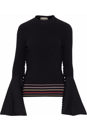 ROKSANDA Striped intarsia-knit top