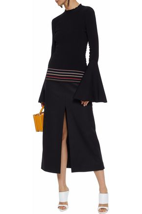 ROKSANDA Striped intarsia-knit top