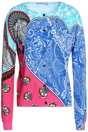 MARY KATRANTZOU Gong printed cotton cardigan