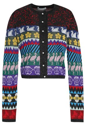 MARY KATRANTZOU Jacqaurd-knit cardigan