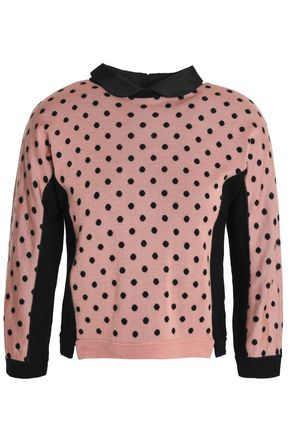 REDValentino Printed wool, silk and cashmere-blend sweater