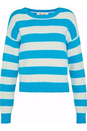 DIANE VON FURSTENBERG Striped wool-blend sweater