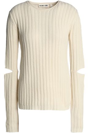HELMUT LANG Cutout ribbed wool sweater