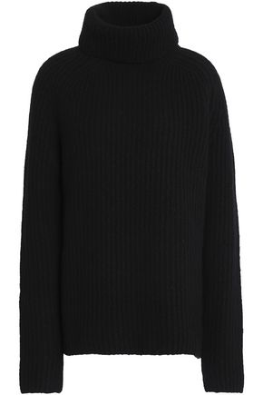 HALSTON HERITAGE Ribbed wool-blend turtleneck sweater
