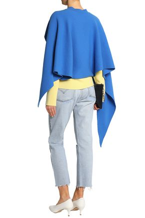 J.W.ANDERSON Cape-effect two-tone merino wool and cashmere-blend sweater