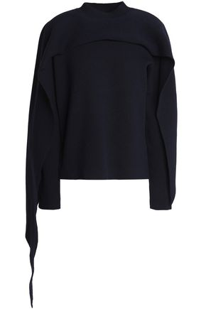 J.W.ANDERSON Cape-effect wool and cashmere-blend sweater