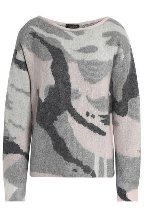 RAG & BONE Intarsia wool-blend sweater