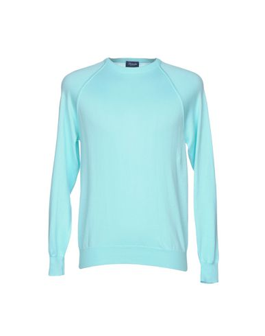 Купить Мужской свитер DRUMOHR бирюзового цвета