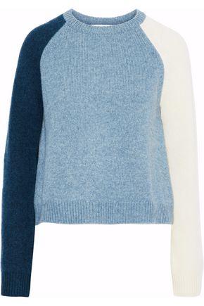 DEREK LAM 10 CROSBY Color-block wool-blend sweater