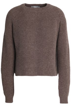 AUTUMN CASHMERE Scalloped ribbed-knit cashmere sweater