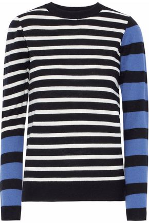 DEREK LAM 10 CROSBY Striped intarsia-knit sweater