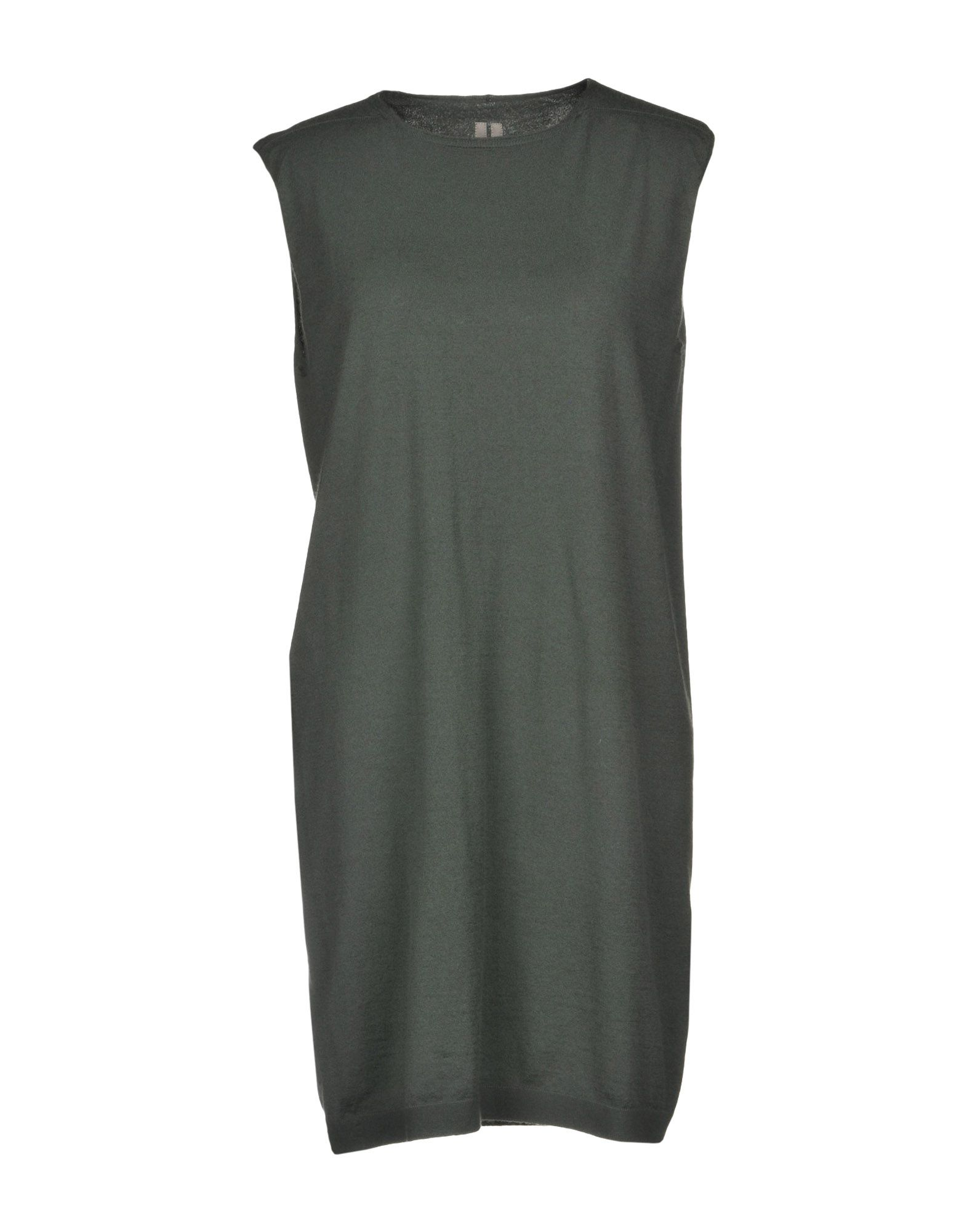 《期間限定セール開催中!》RICK OWENS レディース ミニワンピース&ドレス ミリタリーグリーン XS 93% カシミヤ 7% ポリエステル