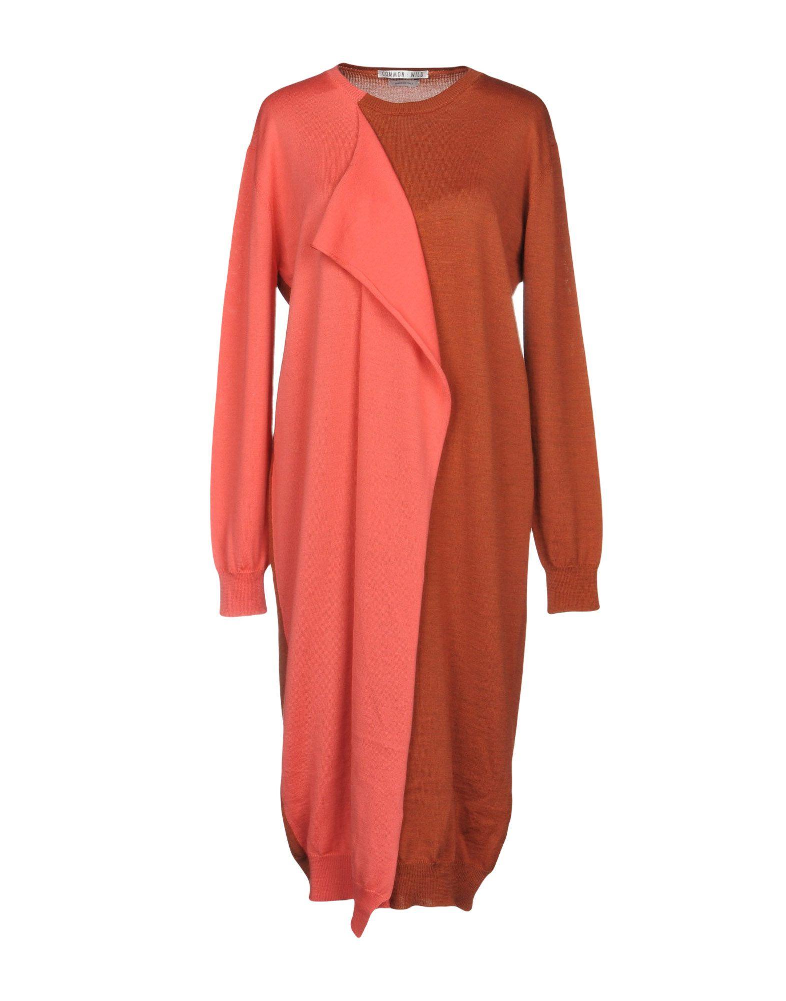 COMMON WILD Knee-Length Dress in Rust