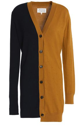 MAISON MARGIELA Asymmetric two-tone cotton dress