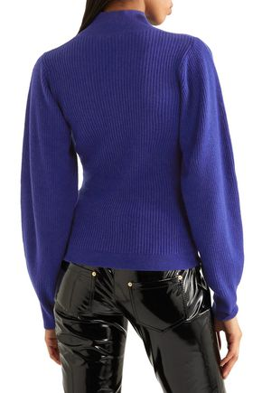 MUGLER Ribbed cashmere turtleneck sweater