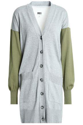 acfccd2bdfd4 MM6 MAISON MARGIELA Color-block cotton-cardigan