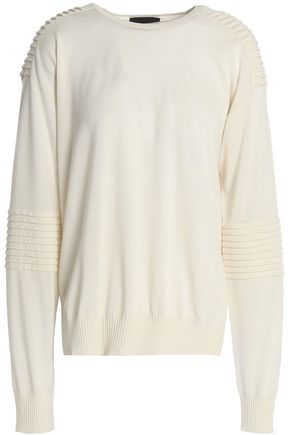 BELSTAFF Pleated wool, silk and cashmere-blend sweater